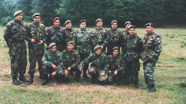 Komandanti ABHO jedinica VJ koji su bili na Kosmetu 1999. godine Foto Privatna arahiva