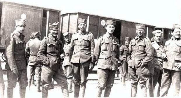 Srpski vojnici u Kandelaki, Foto Istorijski muzej u Kandelakši
