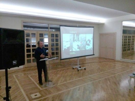 Veljko Đurić Mišina govori pre projekcije