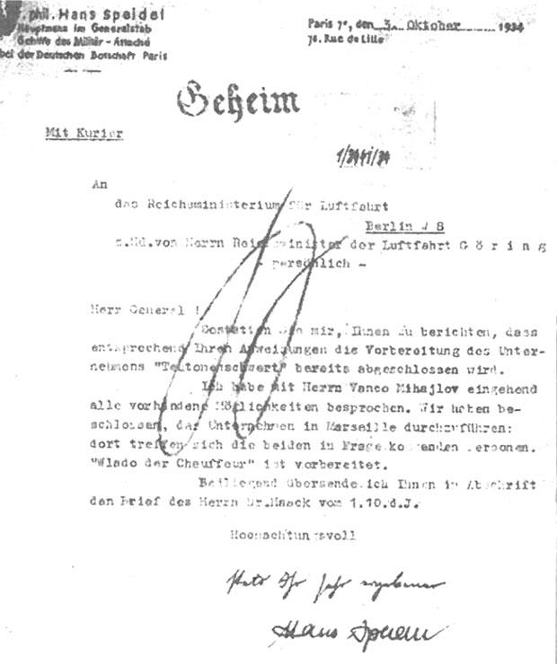 Izveštaj kapetana Špajdela Geringu