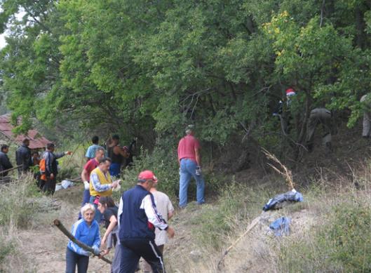 Slika 5. Ulaz u groblje je morao prvo da se prokrči – Lokacija Skočivir