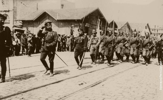 Defile ruske vojske u Solunu