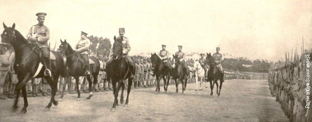 General Ebelov vrši smotru Srpske dobrovoljačke divizije u Odesi