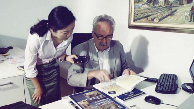 Novinarka Zang Jing snima prilog za CCTV