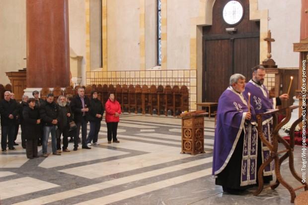 Parastos u crkvi Svetog Marka u Beogradu