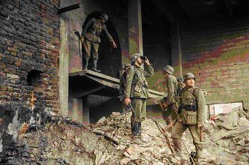 Pripadnici 369.legije, vojske tzv. NDH u porušenom Staljingradu