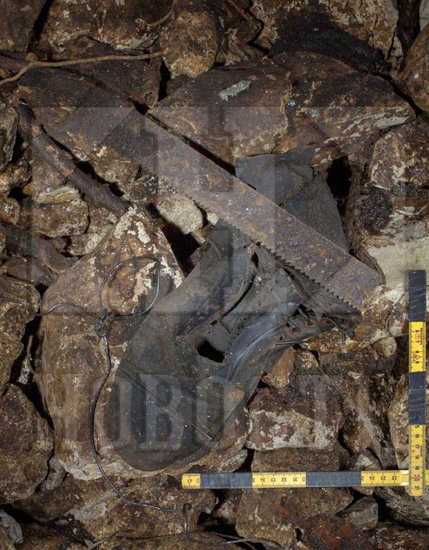 Deo predmeta nađenih na dnu jame