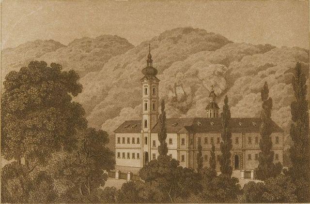 Gravura manastira Bešenovo, 1861