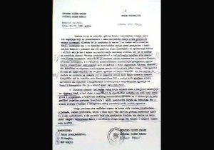 Faksimil Zebićevog dopisa