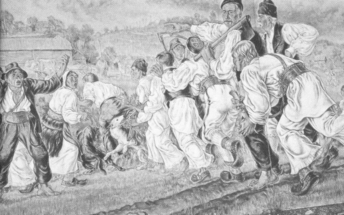 Na smrt vješanjem osuđeno je jedanaest Sjeničaraca, ali ih je pogubljeno troje – slika Julija Meissnera