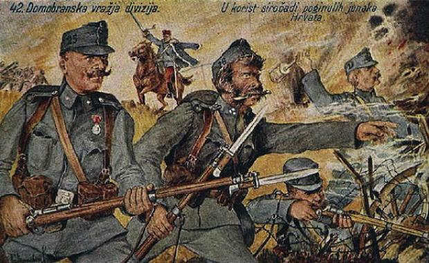 """Hrvati su se ponosili 42. divizijom, koja je napala Srbiju 1914. godine Foto Dokumentacija """"Borbe"""""""