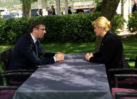 Aleksandar  Vučić i Kolinda Grabar Kitarović Foto: Vlada Srbije / Promo