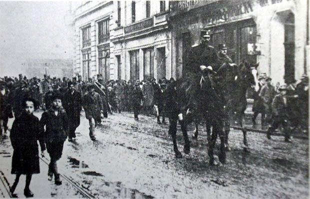 POBEDNICI Dunavska divizija ulazi u Zagreb 1918. godine