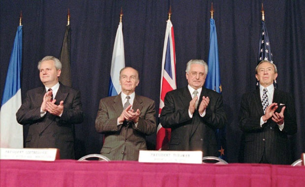 Milošević, Izetbegović i Tuđman