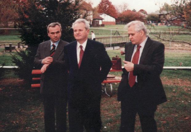 Stanišić, Milošević i Milutinović u pauzi pregovora