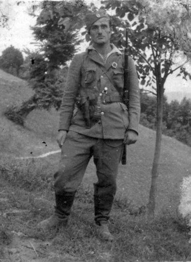Nepoznati borac 1.čete 3.bataljona Motajičke brigade, slikano u Brusniku