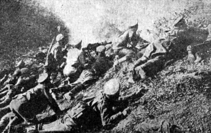Bugarski vojnici na Solunskom frontu. Iz slobodnih izvora