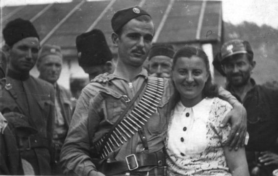 Мајор Лазар Тешановић, командант Средњобосанског корпуса, на снимку из пролећа 1942. године