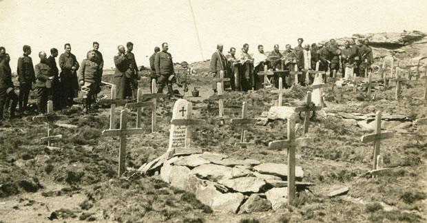 Parastos poginulim ratnicima na Kajmakčalanu 1916.