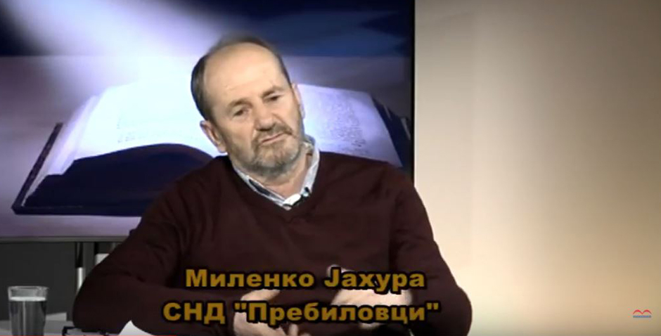 Predsjednik SND Prebilovci Milenko Jahura