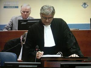 Branko Lukić, advokat generala Mladića u Hagu Foto: RTRS
