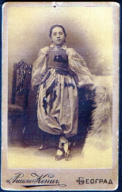 ORIGINALNA FOTOGRAFIJA vlasništvo Zorice Peleš, ćerka prote Steve Dimitrijevića – Desanka, Desa Dimitrijević, Atelje Kenig Beograd
