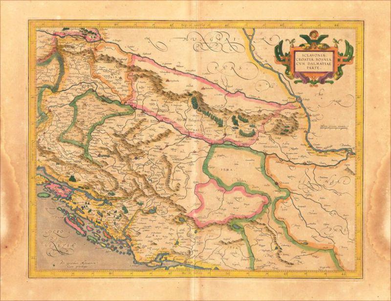 Karta iz 1609. godine, na kojoj je ubeležen naziv Rascia na području Slavonije