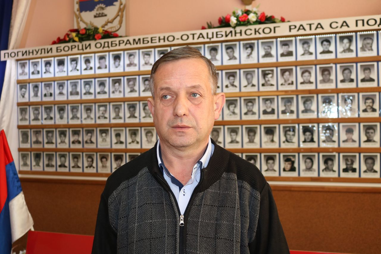 Predsjednik Predsjedništva opštinske Boračke organizacije Brod Zoran Vidić.