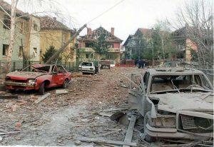 Aleksinac posle bombardovanja 5. aprila
