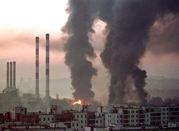 Алијанса бомбардује Београд Фото Танјуг