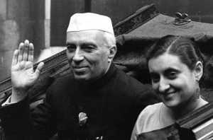 Nehru sa ćerkom Indirom