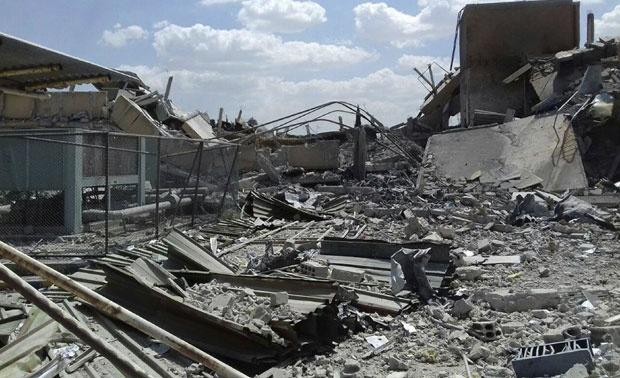 Naučnoistraživački centar u okolini Damaska sravnjen je sa zemljom u noći između petka i subote / Foto Tanjug / AP