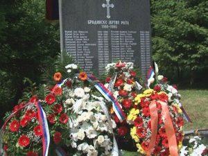 Bradina - spomen obilježje ubijenim srpskim mještanima Foto: RTRS
