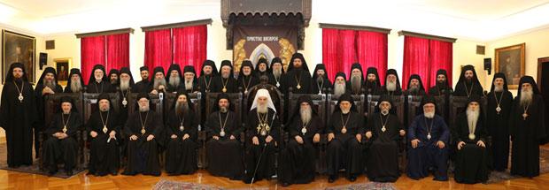 Članovi Svetog arhijerejskog sabora SPC na ovogodišnjem zasedanju / Foto Srpska prvavoslavna crkva