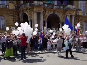 Zagreb - obilježavanje Dana pobjede nad fašizmom Foto: Screenshot/YouTube