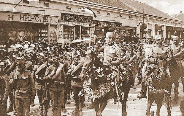 Aleksandar Karađorđević svečano ulazi u Beograd 1913. godine