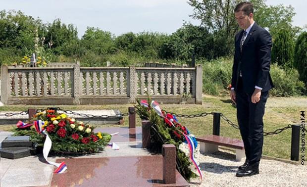 Đurić položio venac na spomenik general-pukovnika Veličkovića
