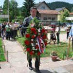 Načelnik opštine Pale Boško Jugović položio e vijenac na mjesnom spomen-obilježju u naselju Stara Stanica na Palama.