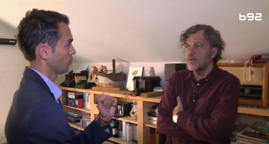 """Emir Kusturica u emisiji """"Razgovor sa Filipom"""" (Izvor: B92)"""