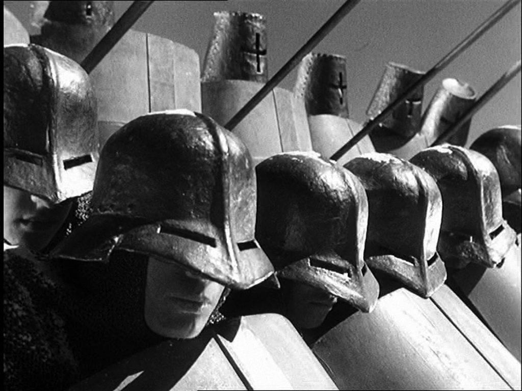 Scena iz filma Sergeja Enzeštajna `Aleksandar Nevski`