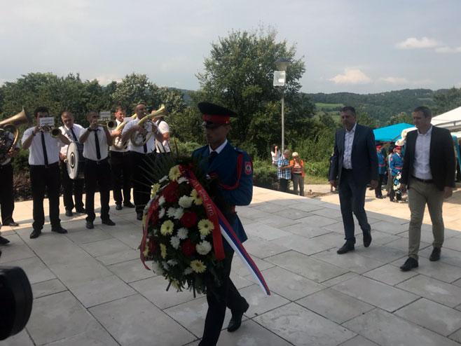 Banj brdo: Obilježavanje Dana ustanka protiv fašizma (Foto: RTRS)