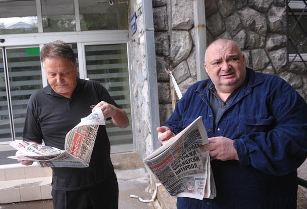 Праунук Александар (десно) незадовољан пресудом Фото А. Станковић