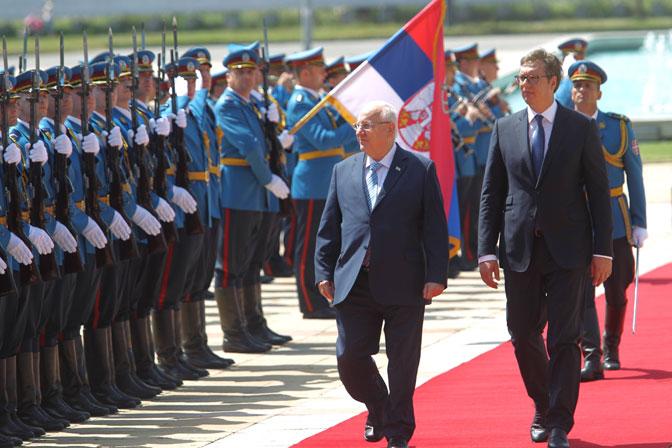 Predsednici Izraela i Srbije (Foto Beta)