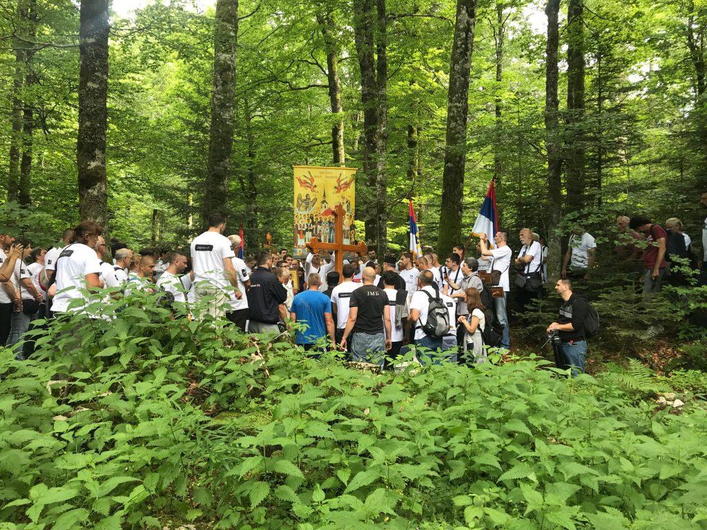 30.06.2018. - Časni krst postavljen uz jamu nedaleko logor Jadovno na Velebitu.
