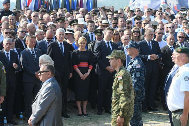 "Državni vrh Hrvatske na obeležavanju ""Oluje"""