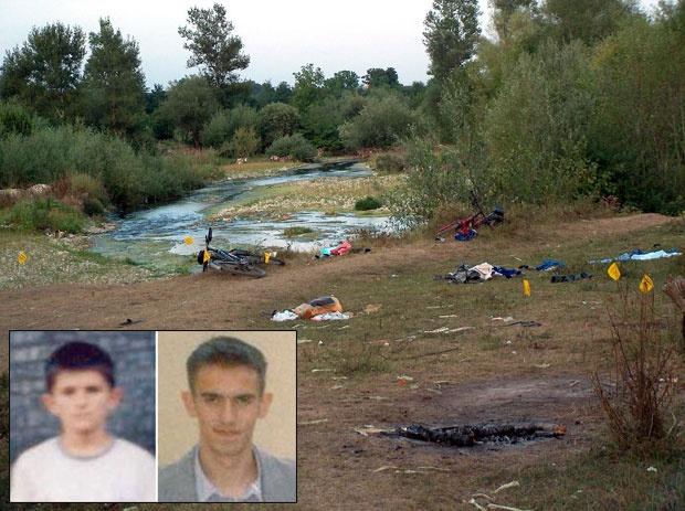 Pantelija Dakić (12) Ivan Jovović (19) Mesto zločina u Goraždevcu Foto Tanjug