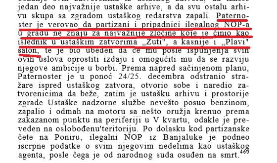"""Iz knjige Dr Dušana Lukača, """"Ustanak u bosanskoj Krajini"""", Beograd 1967. Dio teksta na strani 219."""