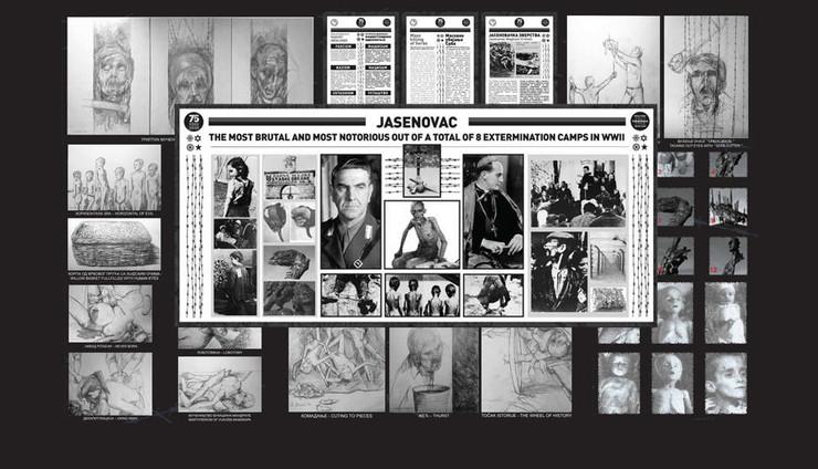 """Jedan od izložbenih panoa izložbe """"Jasenovac, pravo na nezaborav"""""""