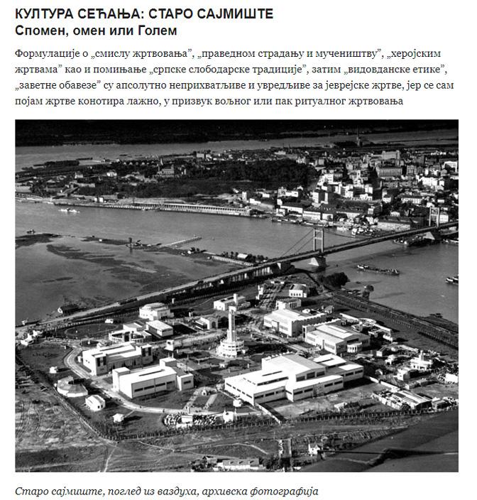 """Izgled dela teksta J. Krstić na sajtu """"Politike"""""""