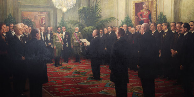 Proglašenje Kraljevine SHS, umetničko delo Ivana Tisova